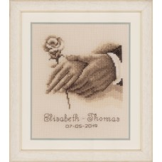 Counted Cross Stitch Kit: Wedding Record: Wedding Rings