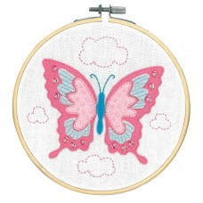 Embroidery Kit with Ring: Butterfly