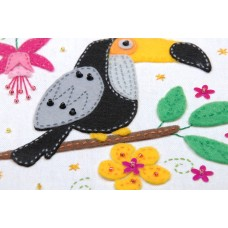 Embroidery Kit with Ring: Toucan