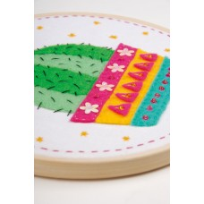 Embroidery Kit with Ring: Cactus