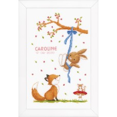 Counted Cross Stitch Kit: Forest Friends