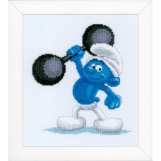 Counted Cross Stitch Kit: The Smurfs: Hefty