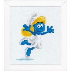 Counted Cross Stitch Kit: The Smurfs: Smurfette