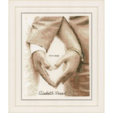 Counted Cross Stitch Kit: Heart of the Newlyweds