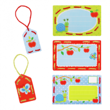 Embroidery: Invite Cards: Apples (Set of 5)