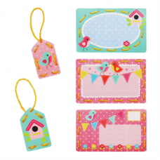 Embroidery: Invite Cards: Birds (Set of 5)