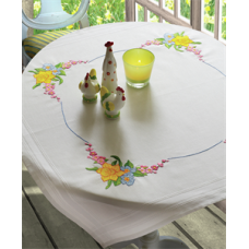 Embroidery Kit: Daffodil: Tablecloth