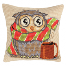 Cross Stitch Cushion: Staying at Home