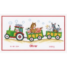 Tractor and Trailer Birth Sampler