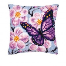 Butterfly and Orchid Cushion