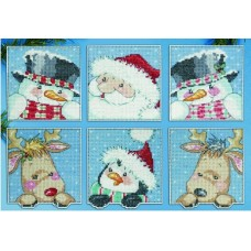 Funny Friend Squares PC Ornaments
