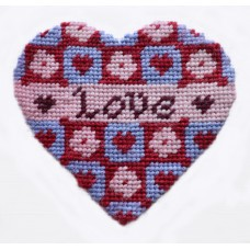 Love Heart Needlepoint Hanging Decoration