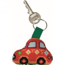Red Fiat Keyring