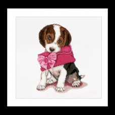 Puppy with Pink Purse