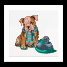 Puppy with Scarf