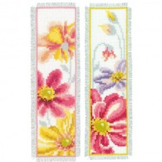 Colourful Flowers Bookmark (Set of 2)
