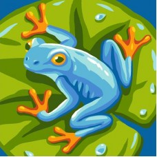 Blue Frog Canvas
