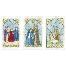 Stained Glass cards - Pack of 3 Cards