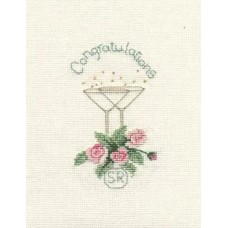 Rose and Champagne Greetings Card Kit