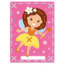 Printed Embroidery Cards: Fairy and Princess (Set of 2)