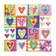 Love Hearts - Cross Stitch