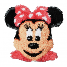 Latch Hook Kit: Cushion Minnie Mouse