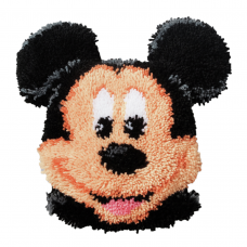 Latch Hook Kit: Cushion Mickey Mouse