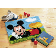 Latch Hook Kit: Rug: Mickey Mouse