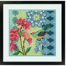 Needlepoint: Blue Floral