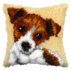 Latch Hook Cushion Kit: Small: Jack Russell