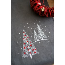 Embroidery Kit: Table Runner: Christmas Trees
