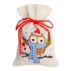 Owl in a Scarf Bag