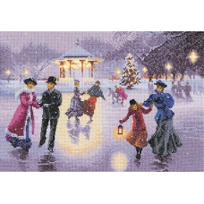 Christmas Skaters (Evenweave)