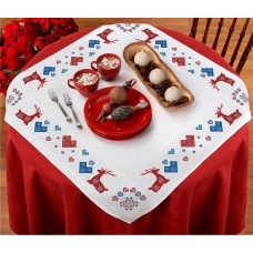 Fairisle Stags Border Tablecloth