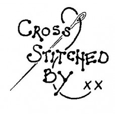 Cross Stitched By..... Wood Mounted Stamp