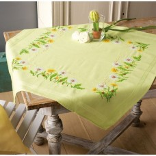 Embroidery: Tablecloth: Dandelions