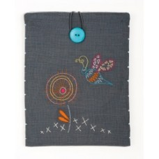 Stylised Dragonfly Embroidery Tablet Cover