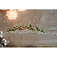 Embroidery: Tablecloth: Village in the Snow