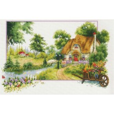 No Count Cross Stitch -  Summer Cottage