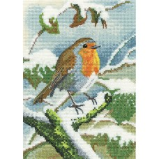 Robin in Winter (Evenweave)