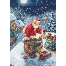 Chimney Santa Petit Point Kit