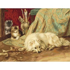 The Dog and Cats Petit Point Kit