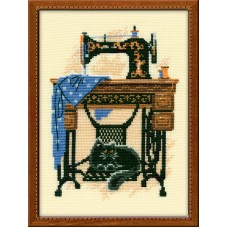 Cat with Sewing Machine
