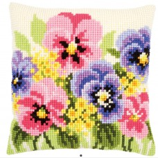 Cross Stitch Cushion Kit: Violets